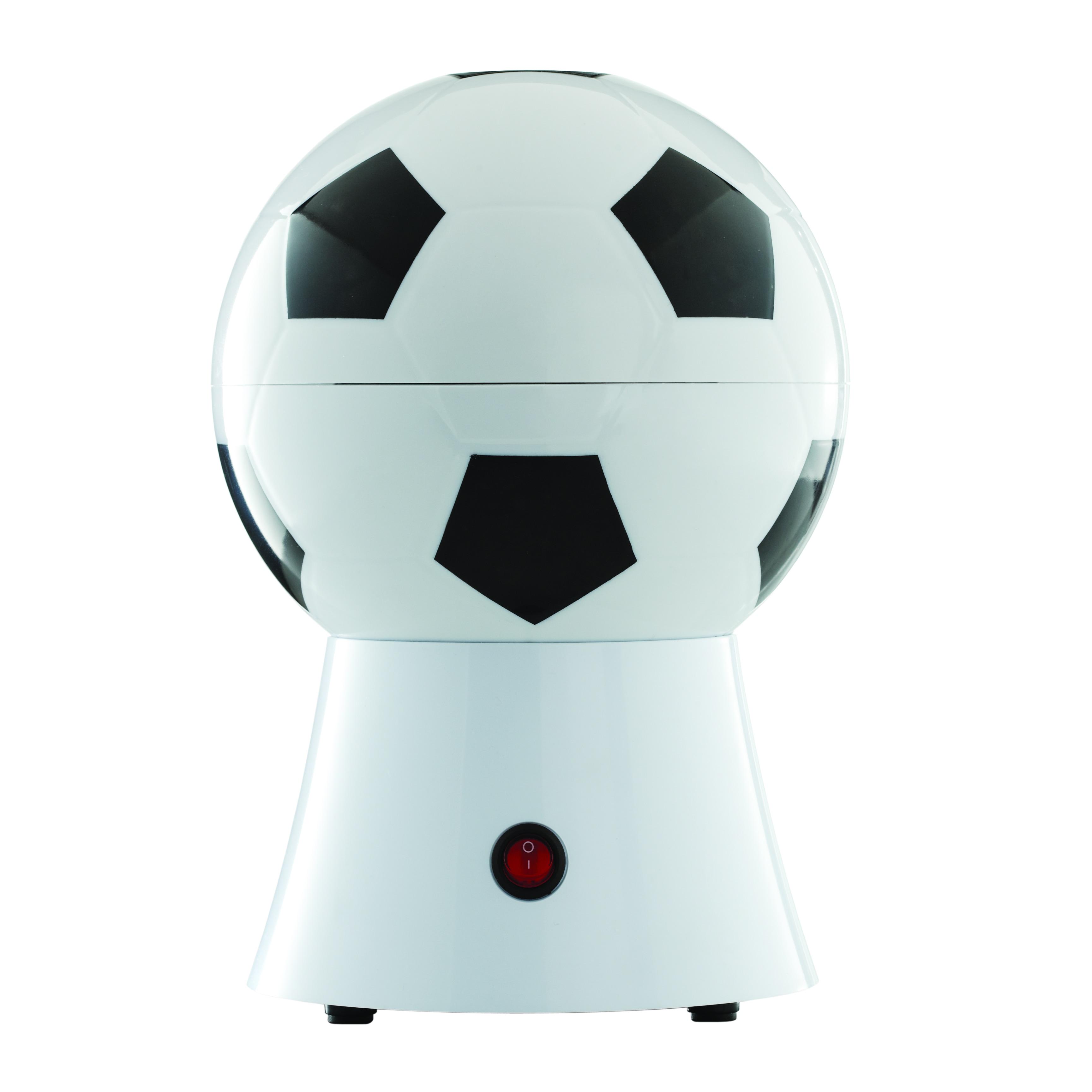 Brentwood PC-482 Soccer Ball Popcorn Maker, White (Plastic)