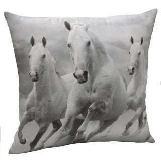 Jovi Home 18 x18-inch Majestic Horses Decorative Pillow