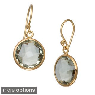 Gioelli Sterling Silver Gemstone Round Briolette Earrings