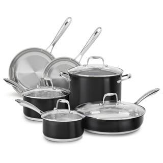 KitchenAid Stainless Steel Onyx Black 10-piece Cookware Set