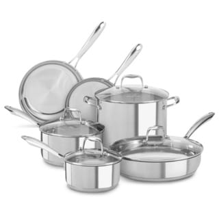 KitchenAid Stainless Steel Polished 10-piece Cookware Set