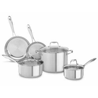 KitchenAid Stainless Steel Polished 8-piece Cookware Set