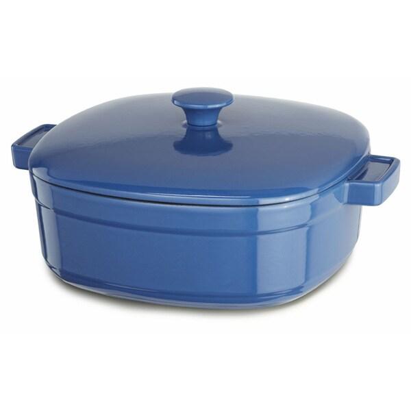 Kitchenaid Dutch Oven kitchenaid streamline spring blue cast iron 6-quart casserole