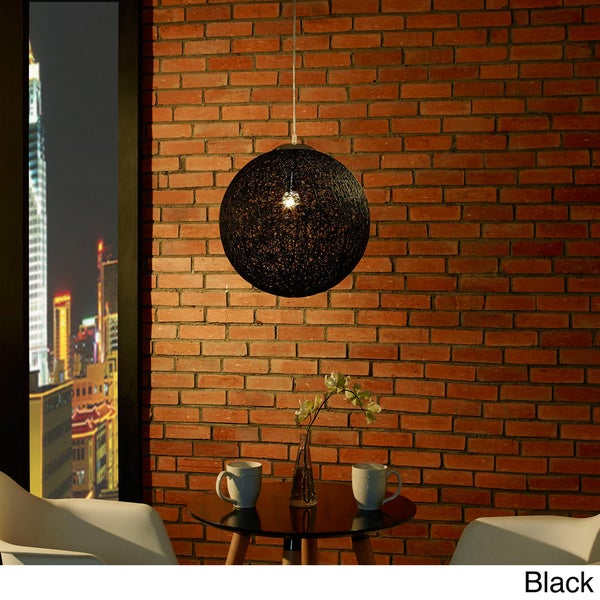 Modern Spool 1-light Pendant Light