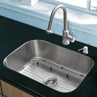 VIGO All-In-One 23 Eldridge Stainless Steel Undermount Sink Set With Astor Faucet