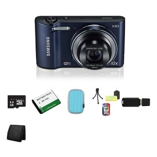 Samsung Cobalt Black WB30F Smart Digital Camera 8 GB Bundle