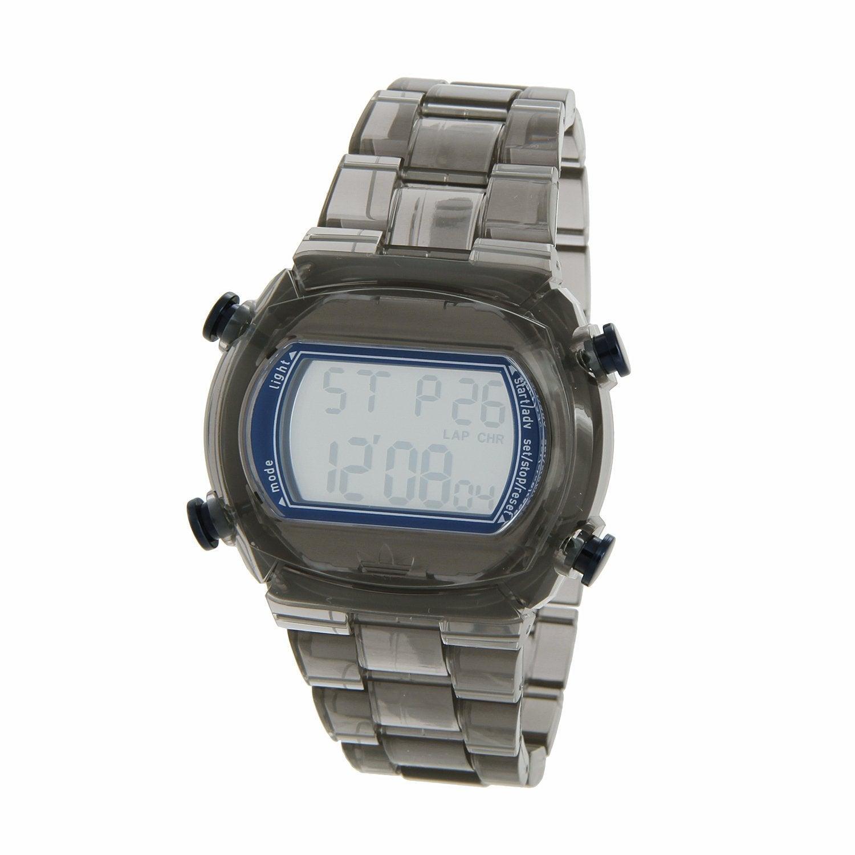 Adidas Candy' Transparent Grey Digital Watch (Grey), Men'...