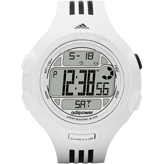 Adidas Men's 'Adipower' White Striped Watch