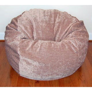 36-inch Wide Tan Chenille Washable Bean Bag Chair