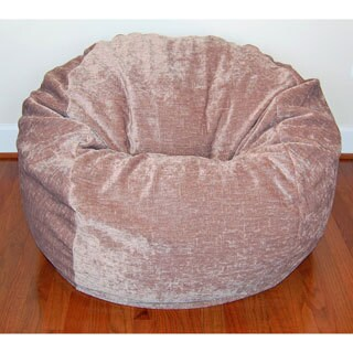 36-inch Wide Tan Chenille Washable Bean Bag Chair