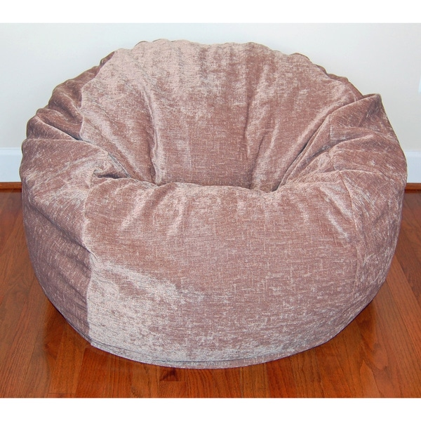 Stupendous 36 Inch Wide Tan Chenille Washable Bean Bag Chair Home Interior And Landscaping Mentranervesignezvosmurscom