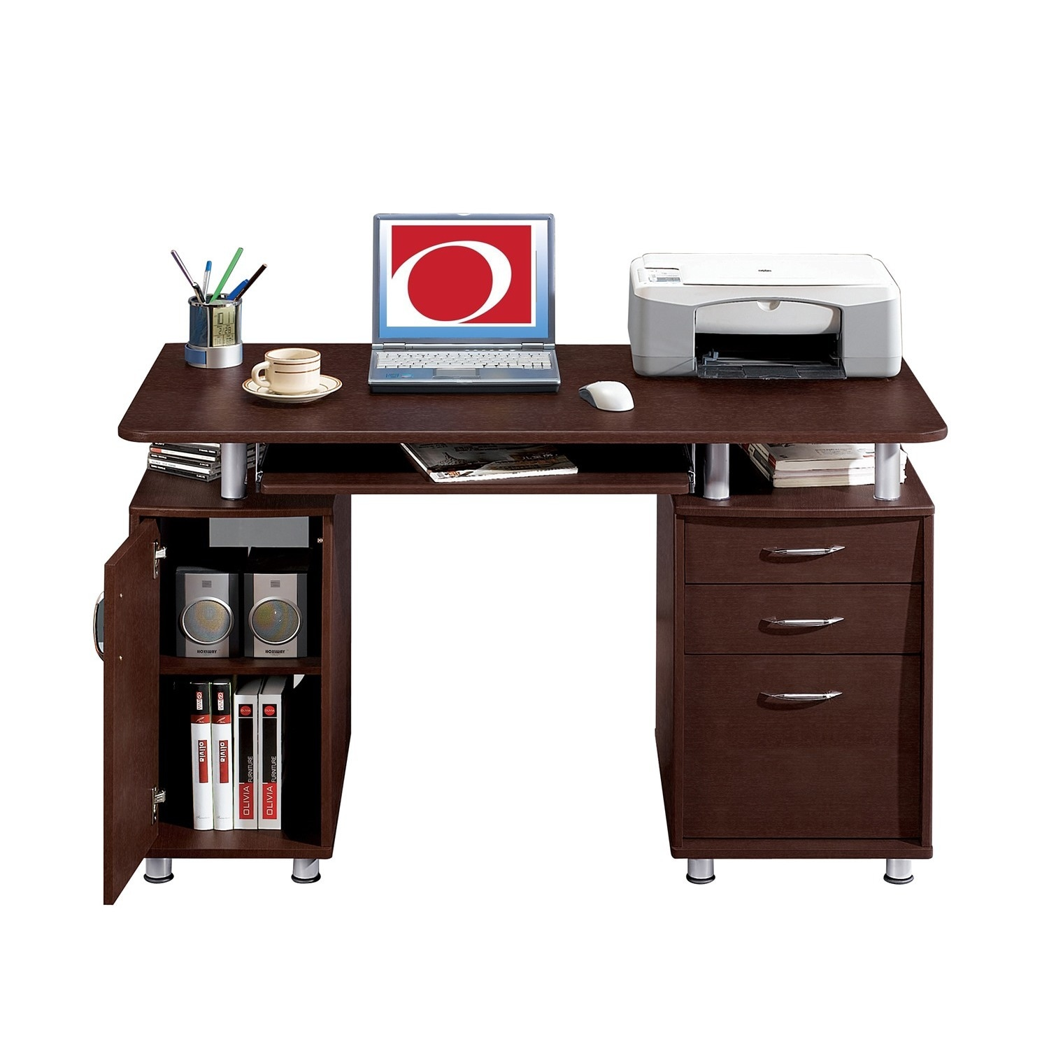 Multifunctional Workstation Office Desk With File Cabinet