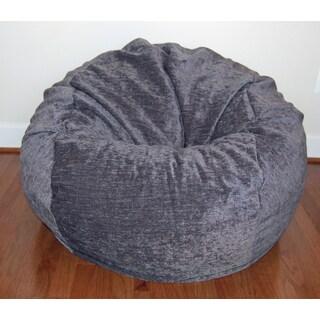 Grey Chenille Washable 36-inch Bean Bag Chair