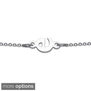 Sterling Silver Personalized Sideways Initial Bracelet|https://ak1.ostkcdn.com/images/products/8961938/P16172175.jpg?impolicy=medium