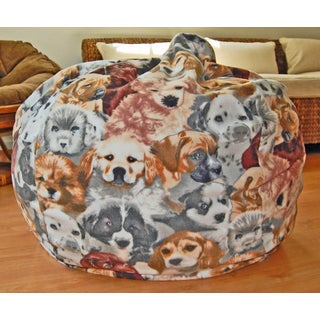 Puppies Anti-pill Fleece Washable Bean Bag Chair