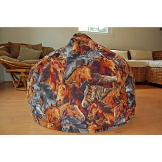 Horses Anti-pill Fleece Washable Bean Bag Chair