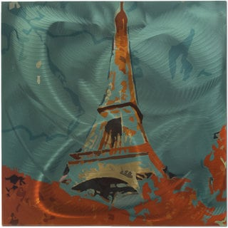 Eclectic Paris Themed Metal Wall Art
