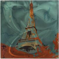 Eclectic Paris Themed Metal Wall Art