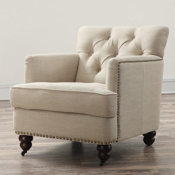 Felicity Beige Linen Chair