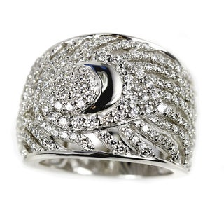 Sonia Bitton Sterling Silver Pave Peacock Feather Ring (2 options available)