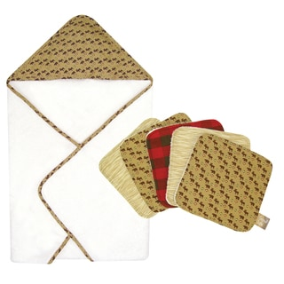Trend Lab Northwood's Hooded Towel and Wash Cloth 6-piece Set