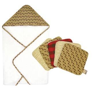 Trend Lab Northwood's Hooded Towel and Wash Cloth 6-piece Set|https://ak1.ostkcdn.com/images/products/8962062/Trend-Lab-Northwoods-Hooded-Towel-and-Wash-Cloth-6-piece-Set-P16172249.jpg?impolicy=medium