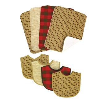 Trend Lab Northwood's 8-piece Bib and Burp Cloth Set