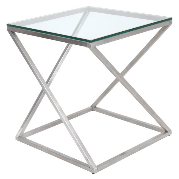 Modern Coffee Table Metal: Shop 4Z Stainless Steel Modern End Table
