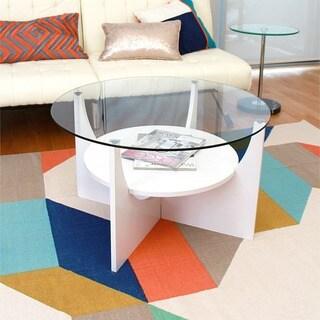 U-shaped Bent Wood Mid-century Style Coffee Table