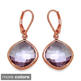 14k Goldplated Sterling Silver Genuine Gemstone Earrings