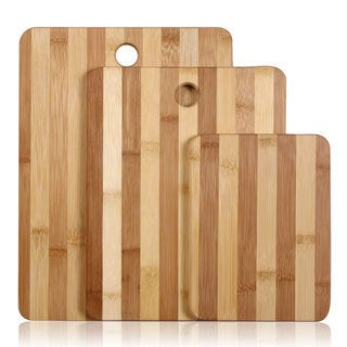 Natural Bamboo 3-piece Chopping Board Set