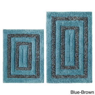 Celebration Tweed Cotton 2-piece Bath Rug Set