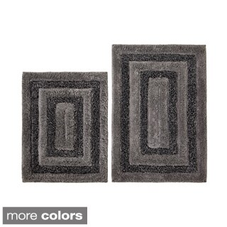 Celebration Tweed Cotton 2-piece Bath Rug Set - 24 x 18
