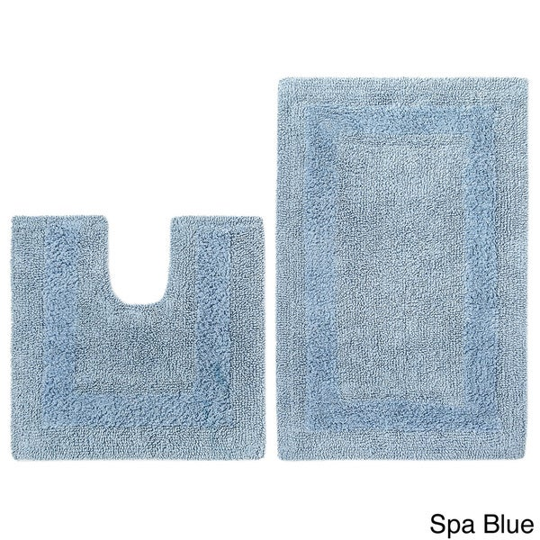 Celebration Reversible Race Track Bath and Contour 2-piece Bath Rug Set