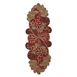 Celebration Scrolling Leaves Beaded Table Runner
