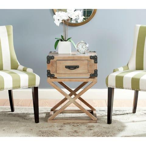 """SAFAVIEH Dunstan Grey Wash Accent Table - 18.9"""" x 15"""" x 25.6"""" - 18.9"""" x 15"""" x 25.6"""""""