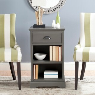 "Safavieh Griffin Grey Storage Side Table - 17.7"" x 13.8"" x 29.9"""