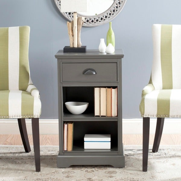Shop Safavieh Griffin Grey Storage Side Table Free