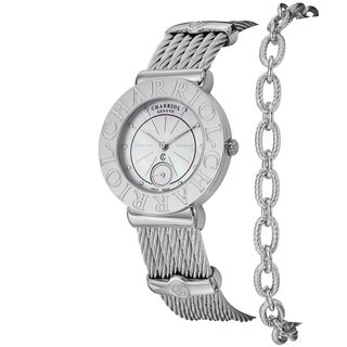 Charriol Women's ST30CS.560.006 'St Tropez' Mother of Pearl Dial Stainless Steel Watch