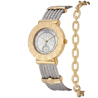 Charriol Women's ST30CY1.560.006 'St Tropez' Mother of Pearl Dial Two Tone Watch