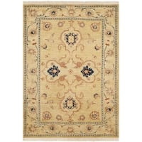 Safavieh Hand-knotted Peshawar Vegetable Dye Light Gold/ Ivory Wool Rug - 4' x 6'