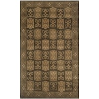 Safavieh Hand-knotted Nepalese Brown Wool/ Silk Rug - 4' x 6'