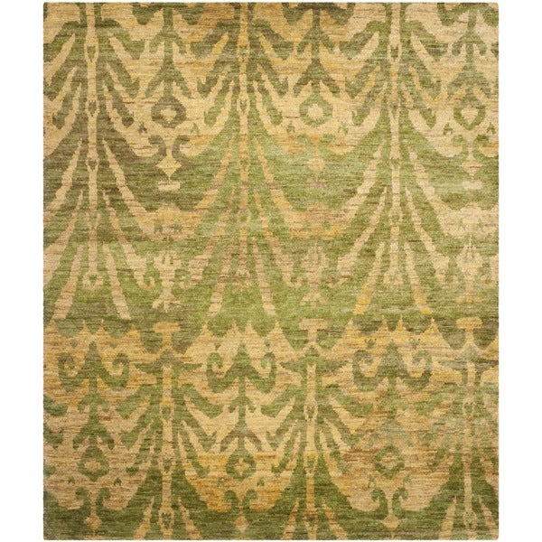 Safavieh Hand-knotted Bohemian Green/ Gold Jute Rug (4' x 6')