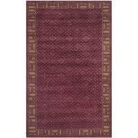 Safavieh Hand-knotted Nepalese Red/ Beige Wool/ Silk Rug - multi - 4' x 6'