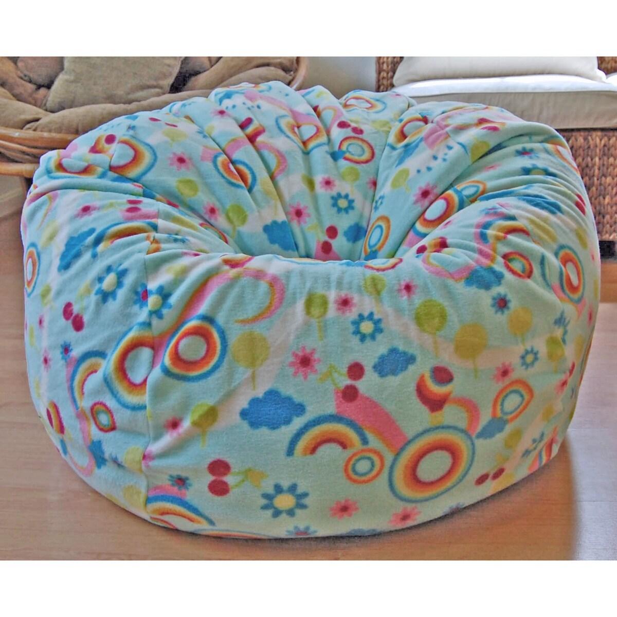 Ahh Products Rainbows Anti-Pill Fleece Washable Bean Bag ...