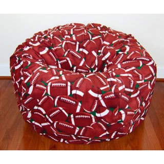 Football Anti-Pill Fleece Washable Bean Bag Chair