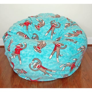 Sock Monkeys Anti-pill Fleece Washable Bean Bag Chair