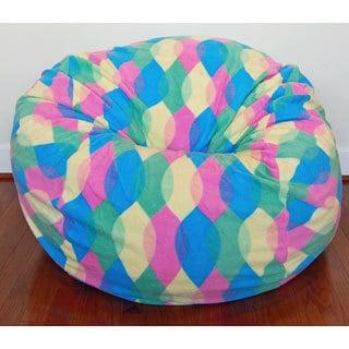 Color Drops Anti-Pill Fleece Washable Bean Bag Chair
