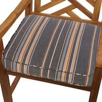 Grey/ Orange Stripe Indoor/ Outdoor 20-inch Chair Cushion with Sunbrella Fabric
