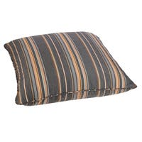 Grey/ Orange Stripe 26-inch Square Indoor/ Outdoor Floor Pillow with Sunbrella Fabric